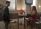 """The Flash -- """"Luck Be a Lady"""" -- Image Number: FLA403b_0127.jpg -- Pictured (L-R): Grant Gustin as Barry Allen and Sugar ñ Lyn Beard as Becky/Hazard ñ Photo: Katie Yu/The CW -- © 2017 The CW Network, LLC. All rights reserved."""
