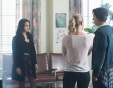 "Riverdale -- ""A Kiss Before Dying"" -- Image Number: RVD201b_0112.jpg -- Pictured (L-R): Camila Mendes as Veronica Lodge, Lili Reinhart as Betty Cooper, and Cole Sprouse as Jughead Jones -- Photo: Dean Buscher/The CW -- © 2017 The CW Network. All Rights Reserved"