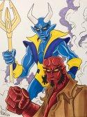 Blue Devil and Hellboy